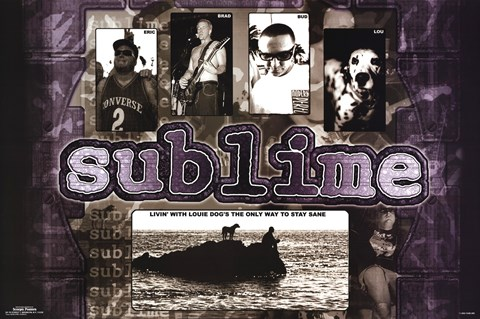 Framed Sublime - Livin' With Lou Print