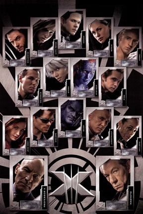Framed X Men - Last Stand - Team Print