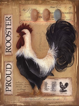 Proud Rooster Fine Art Print By Jill Ankrom At
