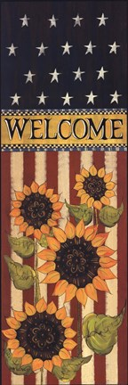 Framed Patriotic Welcome Print