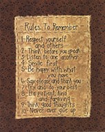 Rules To Remember Art