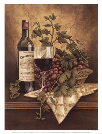 Framed Vin De France I Print