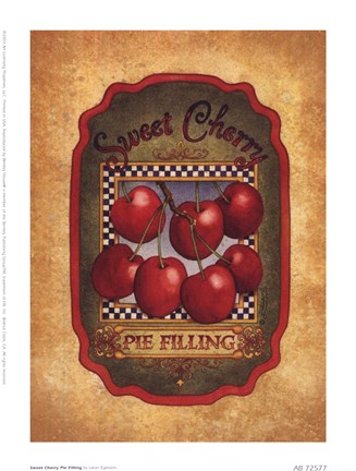 Framed Sweet Cherry Pie Filling Print