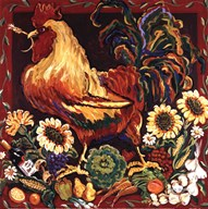 Rooster Harvest Art