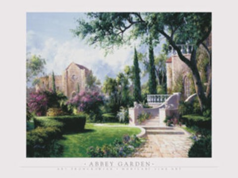 Framed Abbey Garden Print