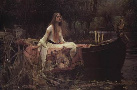 Framed Lady of Shalott, c.1888 Print