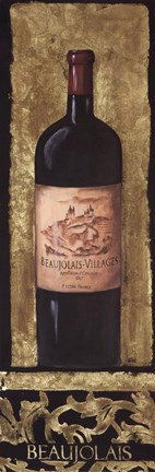 Framed Beaujolais Wine Bottle Print