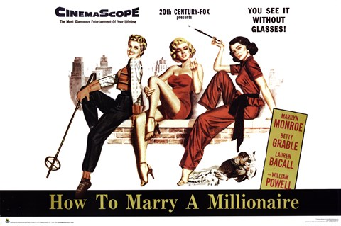 Framed How to Marry a Millionaire Print