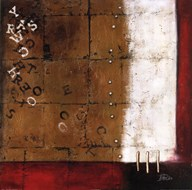 Red Contemporary III Art