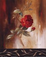 Crimson Rose I  Fine Art Print