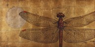 Dragonfly On Gold Art