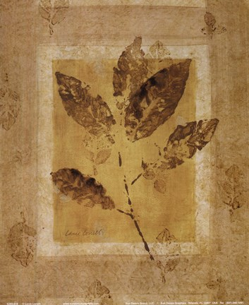 Framed Golden Glow Leaf I Print