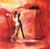 Romance in Red II Art