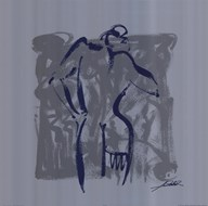 Body Language VIII (silver)  Fine Art Print