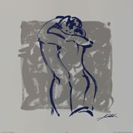 Body Language IX (silver)  Fine Art Print