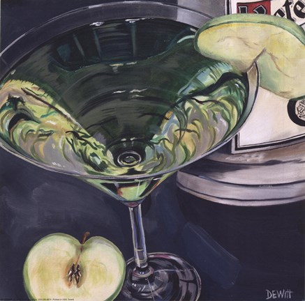Framed Martini - Apple Print