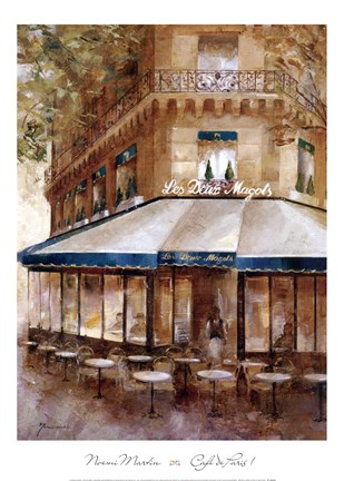 Framed Cafe De Paris I Print