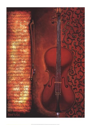 Framed Red Cello Print