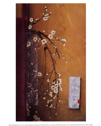 Framed Oriental Blossoms III Print