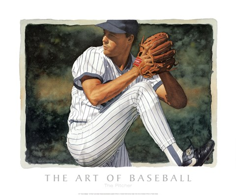 Framed Art of Baseball - The Pitcher Print