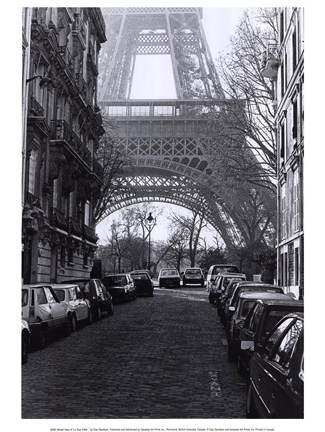 "Framed Street View of ""La Tour Eiffel"" Print"