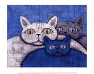 Ice Cats  Fine Art Print