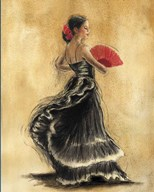 Flamenco Dancer II Art