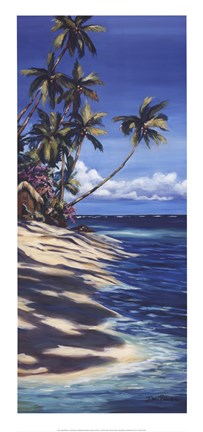 Framed Tropical Retreat II Print
