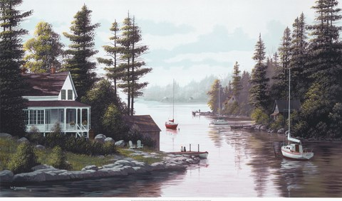 Framed Cottage Country Print