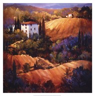 Evening Glow Tuscany Art