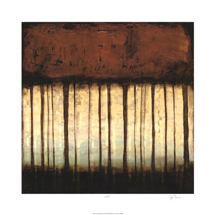 Framed Autumnal Abstract III Print