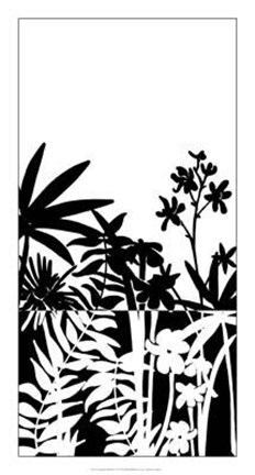 Framed Tropical Silhouette I Print