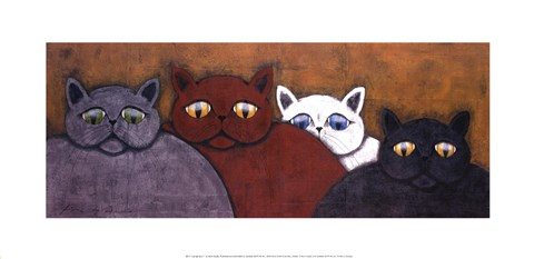 Framed Lounge Cats II Print