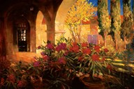 Twilight Courtyard  Fine Art Print