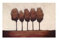 Five Trees  Fine Art Print