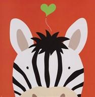 Peek-A-Boo Zebra  Fine Art Print
