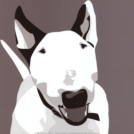 Framed Bull Terrier Print