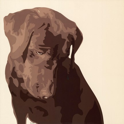 Framed Chocolate Labrador Print
