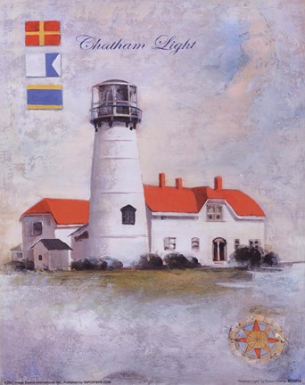 Framed Chatham Light Print