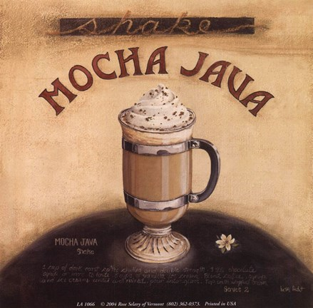 Framed Mocha Java Print