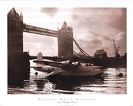 Flying Boat - London  Fine Art Print