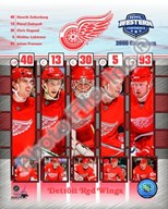 2008 Detroit Red Wings Western Conference Champions Composite Art