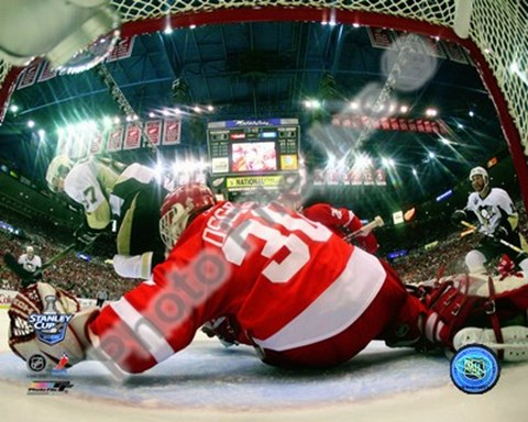 Framed Chris Osgood Game 2 of the 2008 NHL Stanley Cup Finals Action; #7 Print
