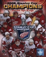2007-08 Detroit Red Wings Stanley Cup Champions Composite  Fine Art Print