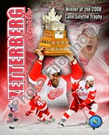 Henrik Zetterberg 2007-08 NHL Conn Smyth Trophy Winner Portrait Plus Art