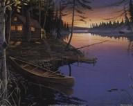 Canoe at the Cabin  Fine Art Print