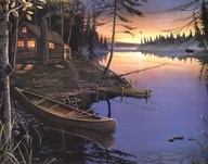 Canoe at the Cabin Art