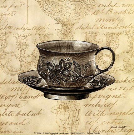 Framed Silver Tea Set IV Print