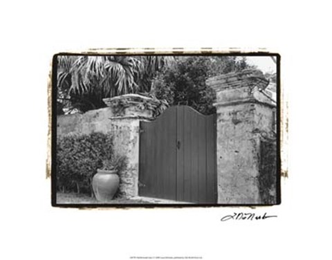 Framed Old Bermuda Gate I Print
