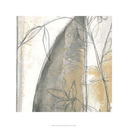 Framed Neutral Garden Abstract III Print